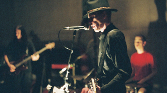 Jandek, Chris Corsano and Matt Heyner performing at Issue Project Room 05