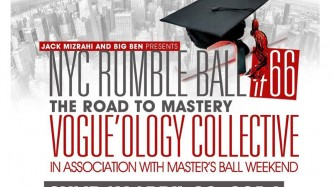 A flyer that says NYC Rumble Ball 66 The Road to Master. In black and red.