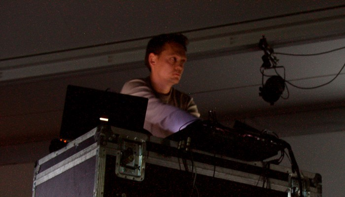 Carston Nicolai with electronic equipment
