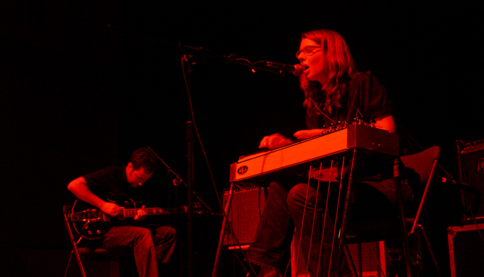 David keenan and Heather Leigh Murray performing on stage at CCA