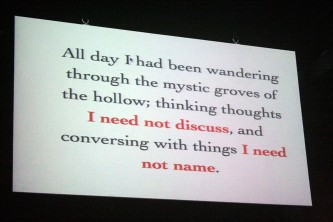 """A shot of a screen with text that says, """"I need not discuss..."""""""