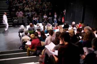 The audience at the Zong! performance read out loud from the poem