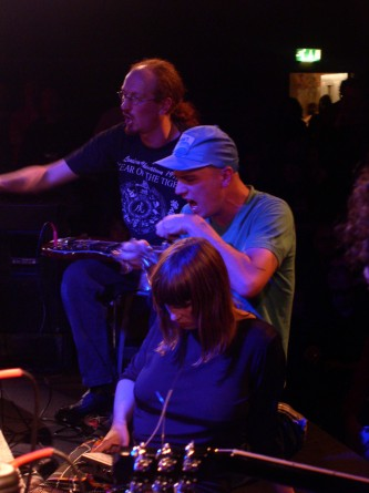 Phil Todd, Dylan Nyoukis Karen Constance play obscure instruments