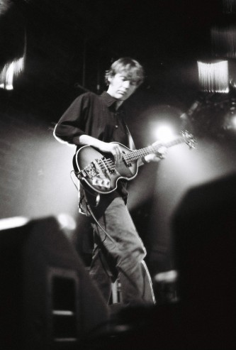 Richard Youngs plays solemnly a bass guitar