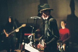 Jandek wearing a hat at Issue Project Room