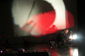 Metamkine at Spike Island Bristol with projectors