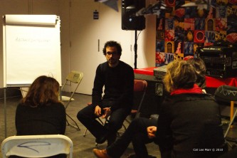 Loic talking with investigation participants