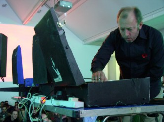 Philip Jeck working with a turntable at KYTN 03