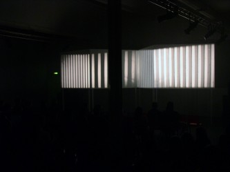 Tony Conrad's en years alive on the infinite plane projection in DCA Dundee