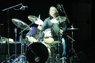 A man playing drums in Aufgehoben at MLFC 07