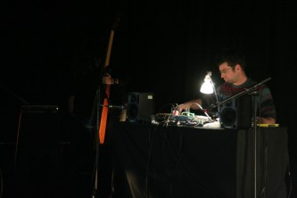Margerida Garcia & Ferran Fages playing double bass and electronics at MLFC 07