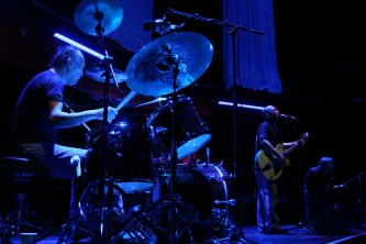 Toshiaki Ishizuka playing drums with Sanjah at MLFC 07