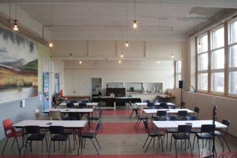 Tables in Kinning Park Complex community centre
