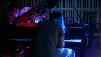 John Blum & Jackson Krall performing on piano and drums at MLFC 07