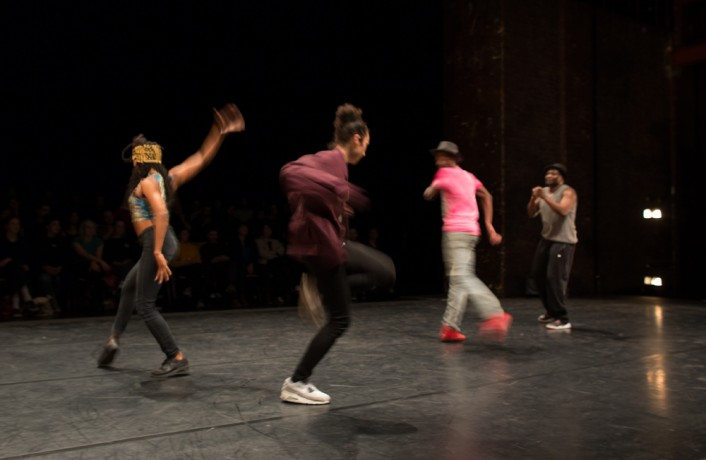 Storyboard P and Project X dancing on stage