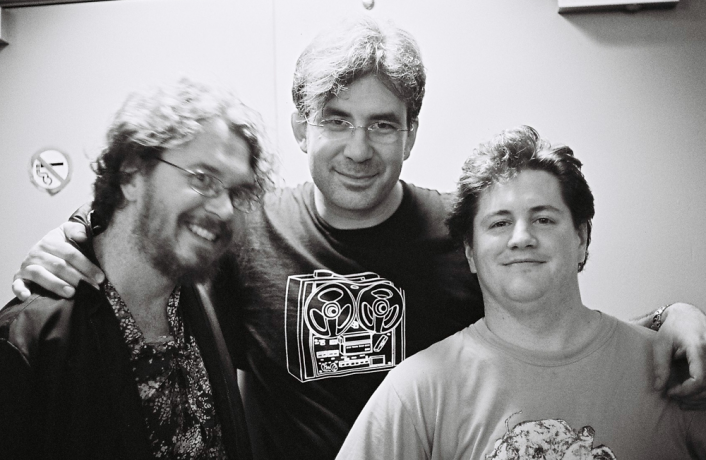 Bhob Rainey, Jason Lescalleet & Greg Kelley backstage at INSTAL 06