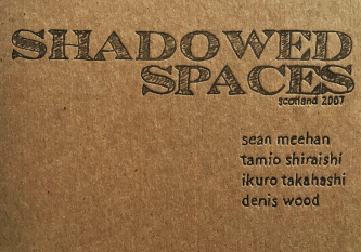 Shadowed Spaces Tour brochure cover with names of artists