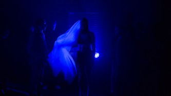 Laps Performs in Blue Light