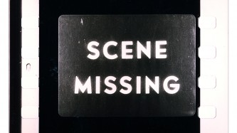 "A film frames has the words ""Scene Missing"" displayed"