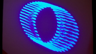 A projection of a blue circle, an infinite loop or a frequency analysis