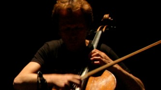 Michael Moser playing a cello at MLFC 07