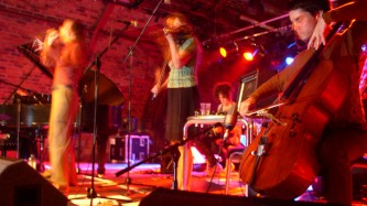 Current 93 on stage at INSTAL 04