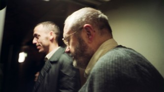 Phill Niblock backstage at INSTAL 02