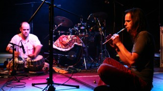 Steve Baczkowski and Ravi Padmanabha performing on stage