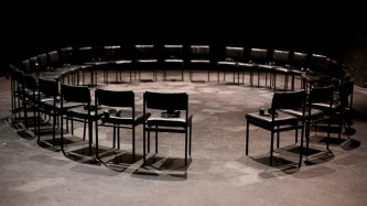 A circle of chairs facing inwards