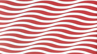 Red and white wavy lines cause an optical illusion