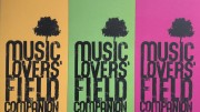 Music Lovers' Field Companion flyers in yellow, green and pink