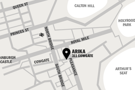 A map showing Arika's location.