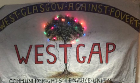 A WestGap banner shows a tree that is lit by fairy lights
