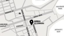 Map for Arika's location on the Cowgate