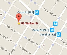 Map of Artists Space Books and Talks at 55 Walker Street