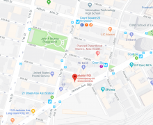 A map of MoMA PS1 and the surrounding area