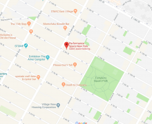 A Map of the area around Performance Space on First Avenue near Tompkins Square